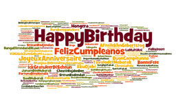 Happy Birthday Cloud Royalty Free Stock Images