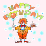 Happy birthday clown04 Stock Photo
