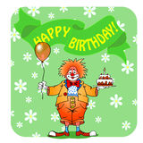 Happy birthday clown03 Stock Image