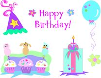 Happy Birthday Collection Royalty Free Stock Photo