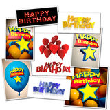 Happy Birthday collection stock photo