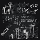 Happy birthday collection. Stock Image