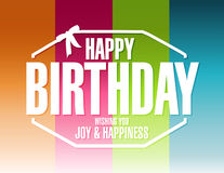 Happy birthday color lines background Royalty Free Stock Images