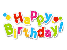 Happy birthday color letters Stock Photography