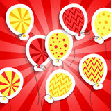 Happy birthday colorful applique background Royalty Free Stock Photo