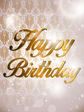 Happy Birthday Colorful Background Card Royalty Free Stock Photography