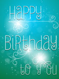 Happy Birthday Colorful Background Card Royalty Free Stock Photos