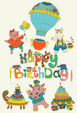 Happy birthday colorful background Royalty Free Stock Photo