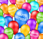 Happy Birthday Colorful Balloons Background. Vector illustration Stock Images