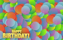 Happy birthday colorful card background Royalty Free Stock Photo