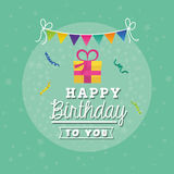 Happy birthday colorful card. Design, vector illustration Royalty Free Stock Image