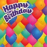 Happy birthday colorful card. Design, vector illustration eps10 Royalty Free Stock Photo