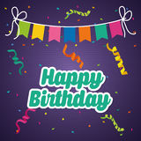 Happy birthday colorful card. Design, vector illustration eps10 Stock Image
