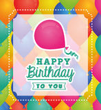 Happy birthday colorful card Royalty Free Stock Image