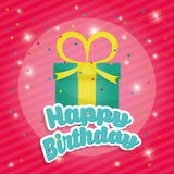Happy birthday colorful card. Design, vector illustration eps10 Royalty Free Stock Images