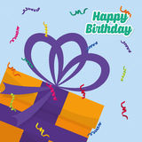 Happy birthday colorful card. Design, vector illustration eps10 Royalty Free Stock Photography