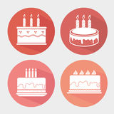 Happy birthday colorful card. Design, vector illustration graphic Royalty Free Stock Image