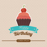 Happy birthday colorful card. Design, vector illustration graphic Stock Photos