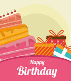 Happy birthday colorful card. Design, vector illustration graphic Royalty Free Stock Images