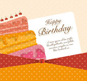 Happy birthday colorful card. Design, vector illustration graphic Stock Photo
