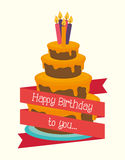 Happy birthday colorful card. Design, vector illustration graphic Royalty Free Stock Photos