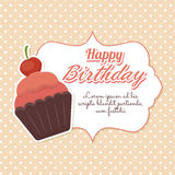 Happy birthday colorful card. Design, vector illustration graphic Royalty Free Stock Photo