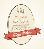 Happy birthday colorful card. Design, vector illustration graphic Stock Image