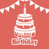 Happy birthday colorful card. Design, vector illustration graphic Royalty Free Stock Photography