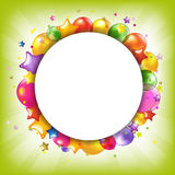 Happy Birthday Colorful Card With Speech Bubble Stock Photo