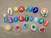Happy Birthday, colorful composition Royalty Free Stock Photos