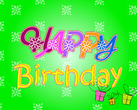 Happy Birthday. Colorful happy birthday design with fancy floral elements Royalty Free Stock Photography