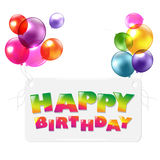 Happy Birthday Colorful Greetings Card Royalty Free Stock Images