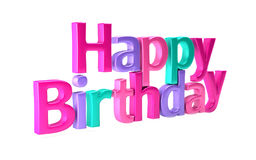 Happy Birthday Colorful Greetings. Stock Image