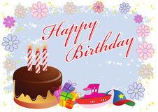 Happy Birthday Colorful Illustration Stock Images