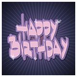 Happy Birthday. Colorful illustrations. Flat vector illustration Stock Photo
