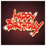 Happy Birthday. Colorful illustrations. Flat vector illustration Royalty Free Stock Photography