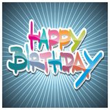 Happy Birthday. Colorful illustrations. Flat vector illustration Royalty Free Stock Photo