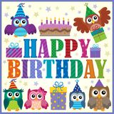 Happy birthday composition 5 Royalty Free Stock Photo