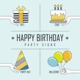 Happy birthday concept Royalty Free Stock Photos