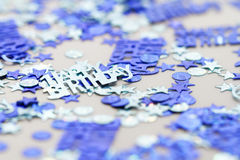 Happy birthday confetti Royalty Free Stock Images