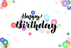 Happy birthday. Congratulation. Lettering. royalty free illustration