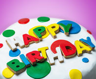 Happy birthday congratulations from cookies Stock Photo