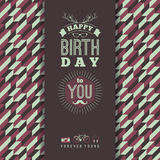 Happy birthday congratulations, vintage retro background with ge Royalty Free Stock Photos