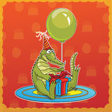 Happy birthday crocodile Royalty Free Stock Image