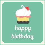 Happy birthday cup cake card Stock Photos
