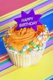 Happy Birthday Cupcake stock image