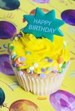 Happy Birthday Cupcake Royalty Free Stock Photography