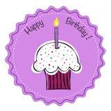 Happy Birthday Cupcake Royalty Free Stock Images