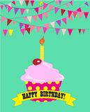 Happy birthday cupcake. Stock Images
