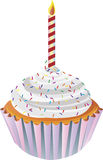 Happy Birthday Cupcake Illustration Stock Photo